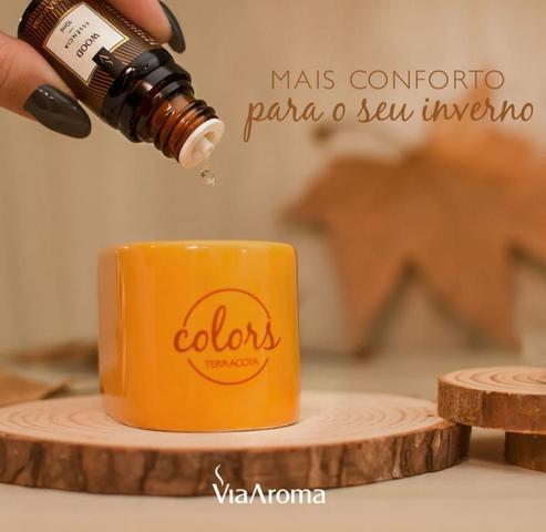 Imagem de Kit Aromatizadores Difusor Elétrico Porcelana Via Aroma Original e Terracota Colors