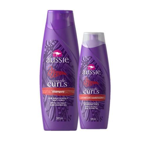 Imagem de Kit Aussie Miracle Curls Shampoo 360ml + Condicionador 180ml
