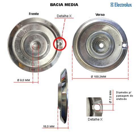 Imagem de Kit bacias em alumínio p/ fogões electrolux 4 bocas 50 erx