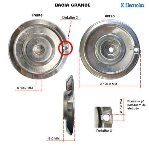 Imagem de Kit bacias em alumínio p/ fogões electrolux 4 bocas 52 sm