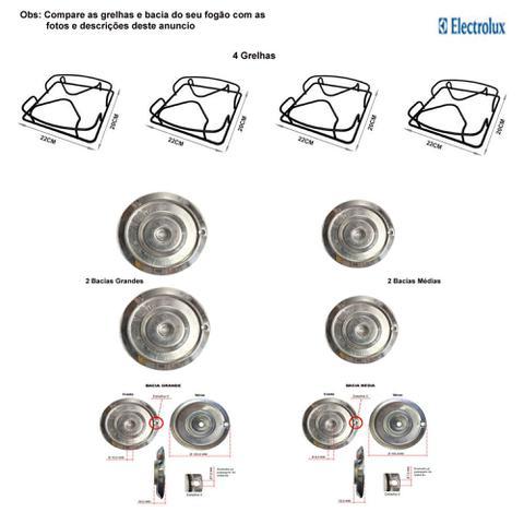 Imagem de Kit bacias + grelhas p/ fogões electrolux 4 bocas 50 er