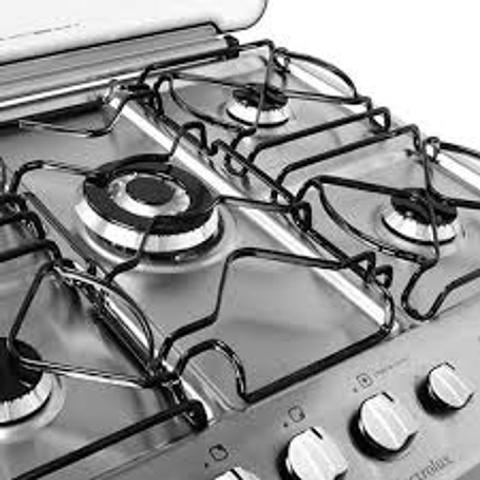 Imagem de Kit bacias + grelhas p/ fogões tripla chama electrolux 5 bocas 76 dtb
