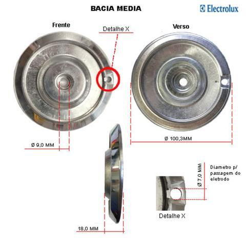 Imagem de Kit bacias + grelhas para fogões electrolux 4 bocas 50 sb