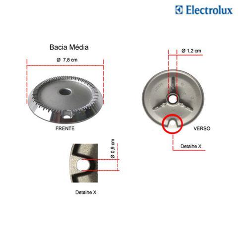 Imagem de Kit bacias para fogões tripla chama electrolux  5 bocas 76 efx