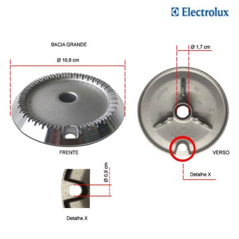 Imagem de Kit bacias para fogões tripla chama electrolux  5 bocas 76 spv