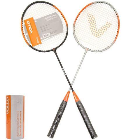 Imagem de Kit badminton 2 raquetes 2 petecas vollo