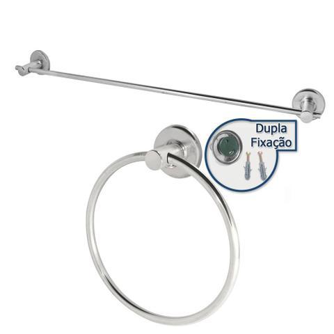 Imagem de Kit banheiro 2pcs com suporte de toalha de rosto e banho