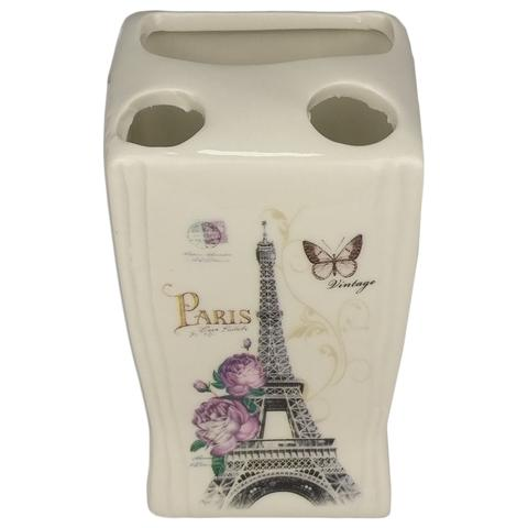 Imagem de Kit Banheiro Porcelana Paris Porta Sabonete Liquido Porta Escovas e Saboneteira - Wincy