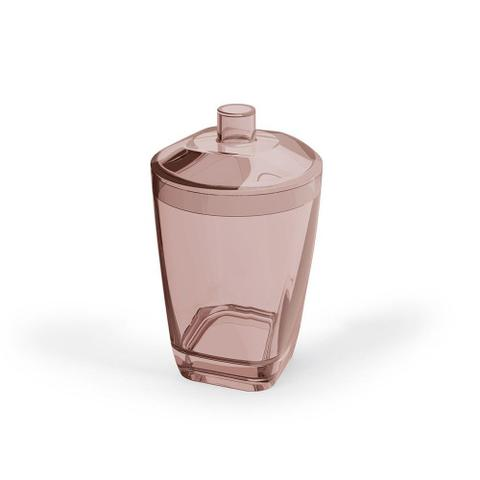 Imagem de Kit Banheiro Porta Escova Sabonete Liquido e Algodão Rosa