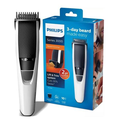 Imagem de Kit Barbeador Aparador de Pelos Barba Cabelos Philips BT3206/14 Bivolt