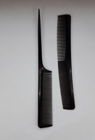 Imagem de Kit Barbeiro 3 Tesouras Inox Cabelo Profissional+2 Pentes