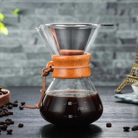 Imagem de Kit Barista Passador Chaleira Balança Profissional Para Café