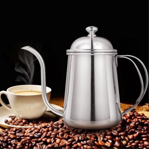 Imagem de Kit Barista Profissional Bule Inox E Passador Para Café