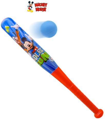 Imagem de Kit baseball infantil taco mais bola mickey mouse 43x 5cm
