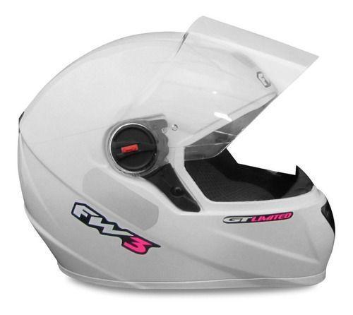 Imagem de Kit Baú Givi Moto 45l Lente Fumê + Capacete Branco Com Rosa
