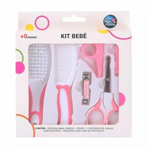 Imagem de Kit Bebê Cuidados e Higiene Rosa - Pais e Filhos