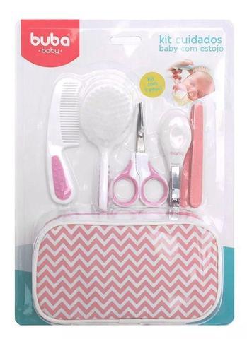 Imagem de Kit Bebê Higiene Cuidados Com Estojo Rosa Buba