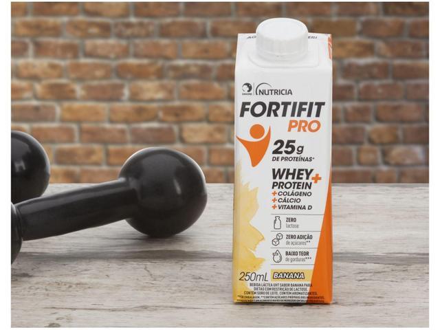 Imagem de Kit Bebida Láctea Fortifit Pro Banana Zero Açúcar