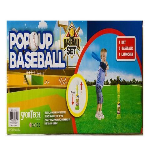 Imagem de Kit Beisebol Infantil Baseball Taco Lançador Automatico 3 Bolas Conjunto Esporte Completo Criança