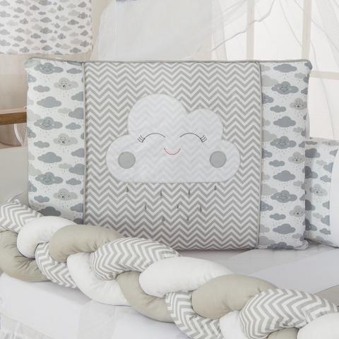 Imagem de Kit Berço Nuvem Trança Cinza - 10 peças