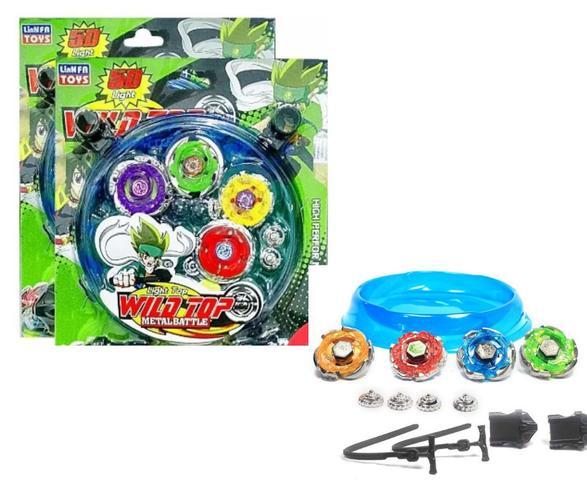 Imagem de Kit Beyblade Burst Metal Tornado + Lançador + Arena - Lianfa toys
