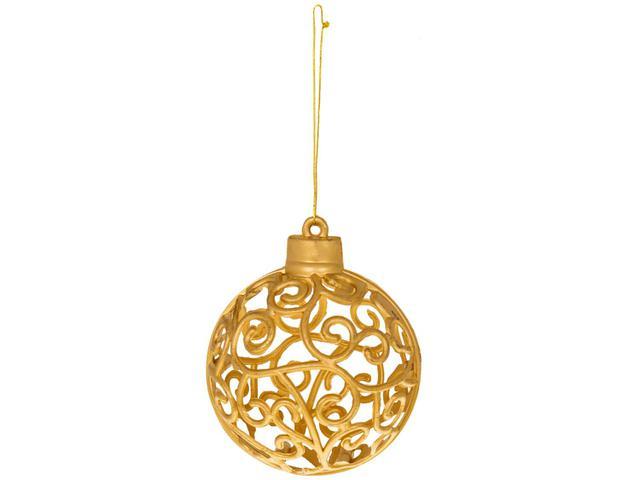 Imagem de Kit Bola de Natal Dourada com Arabesco NATAL043M