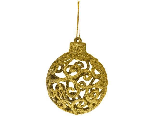Imagem de Kit Bola de Natal Vermelha e Dourada Mista
