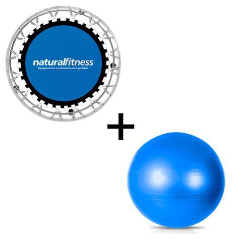 Imagem de Kit Bola Suíça Pilates + Mini Jump Trampolim Natural Fitness