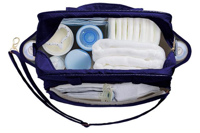 Imagem de Kit Bolsa Bebê 04 Peças Plike Baby Azul Marinho TP-PK72