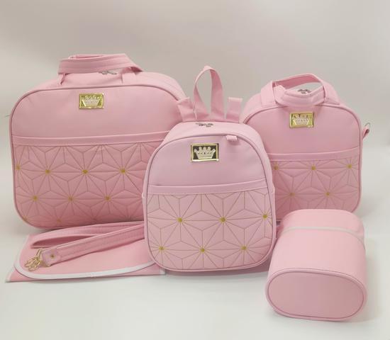 Imagem de Kit bolsa maternidade 5 p estrela rosa + saida maternidade