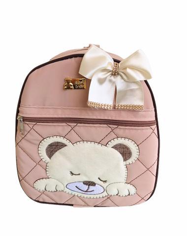 Imagem de Kit Bolsa Maternidade 5 Peças Completo Urso Dormindo Térmica Nude Unissex