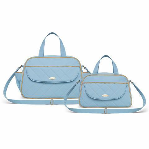 Imagem de Kit Bolsa Maternidade Selena Baby Izmir Azul - Classic For Baby Bags