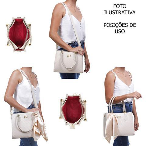 Imagem de Kit Bolsa TansversaFeminina Conjunto Lorena Grande e Pequena Alça de mão Com Carteira - Gabriely Aiélo
