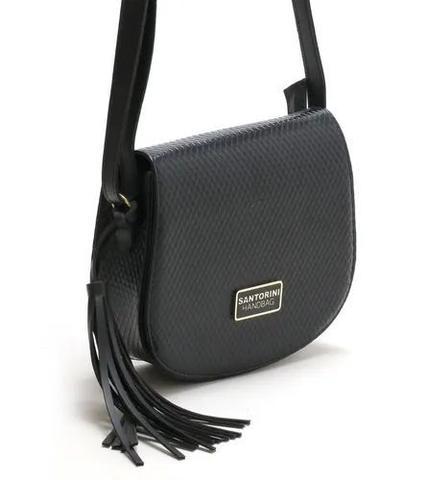 Imagem de Kit Bolsas Feminina Bicolor Com Carteira Santorini Handbag Tricê Preto/Creme