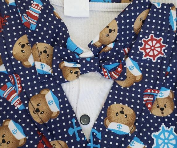 Imagem de Kit Bolsas Maternidade 5pcs Saída Marinho Branco Estampado