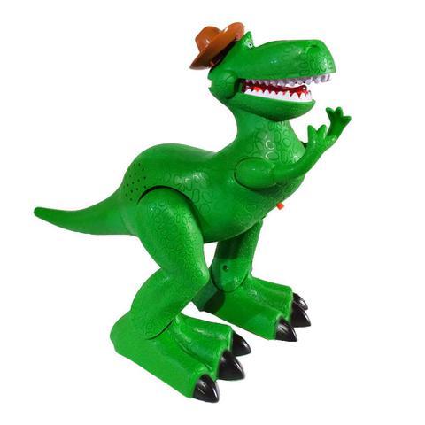 Imagem de Kit Boneco Dino Rex que Anda e Toca Música com Copo Woody Toy Story