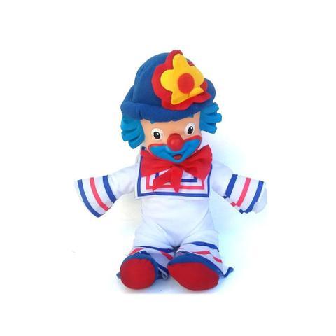 Imagem de Kit Boneco Palhaço Patati E Patata Brinquedo Infantil Em Tecido Cabeça De Borracha