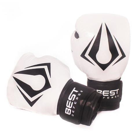 Imagem de Kit Boxe Muay Thai Luva 10oz + Protetor Bucal + Bandagem 3m - Branco
