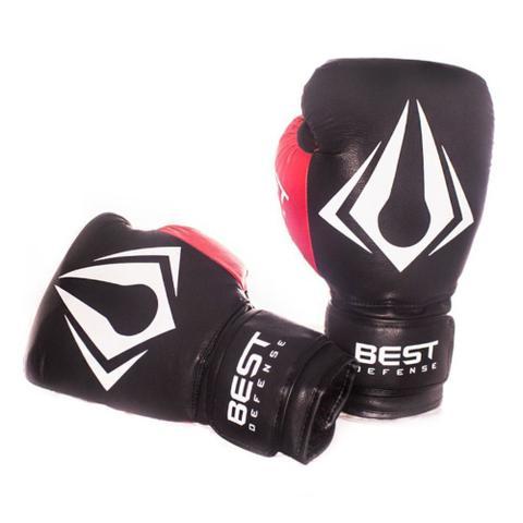 Imagem de Kit Boxe Muay Thai Luva 12oz + Protetor Bucal + Bandagem 3m - Preto