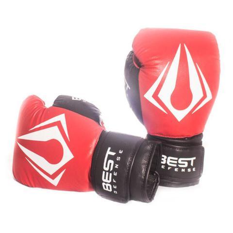 Imagem de Kit Boxe Muay Thai Luva 16oz + Protetor Bucal + Bandagem 3m - Vermelho