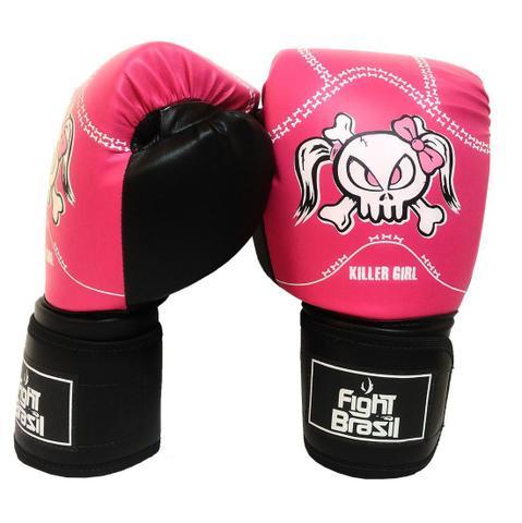 c4551463e Imagem de Kit Boxe Muay Thai Luva Bandagens Rosa 12 Oz Fight Brasil Feminino