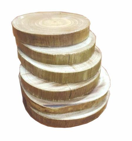 Imagem de Kit C/12 - Apoiador de Copo em Madeira Rústica - Tipo bolacha Porta Copo