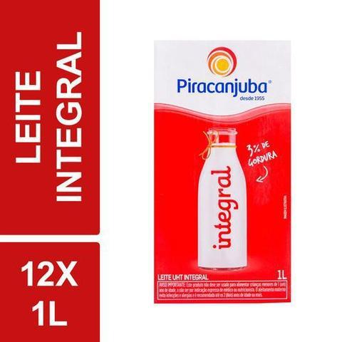 Imagem de Kit C/ 12 Leite Longa Vida Integral Uht Piracanjuba 1l Tetra Pak