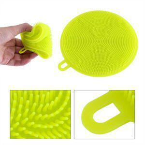 Imagem de Kit c/ 3 Esponjas de Silicone Redondas Para Lavar Louça
