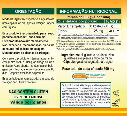 Imagem de Kit C/ 3 Un. Zinco Quelato Zn 600mg 180 Vegan Caps Unilife