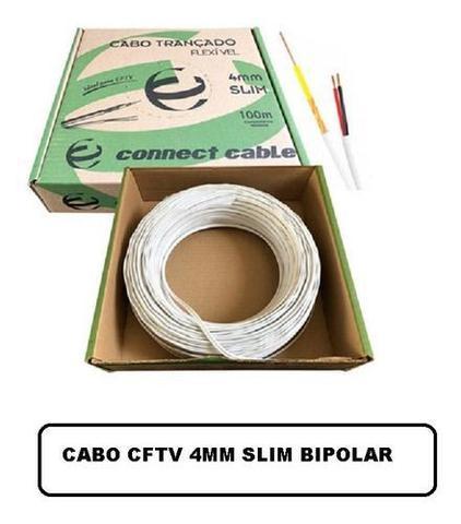 Imagem de Kit C/5 Cabo Coaxial Bipolar 4mm 100m Slim Cftv Trançado Br
