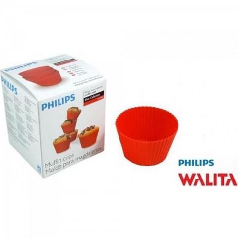 Imagem de Kit C/ 5 Formas de Cupcake e Muffins para Airfryer Philips Walita