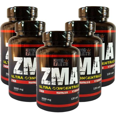 Imagem de Kit C/ 5 un. Vitamina ZMA 120 Cápsulas 3000 Mg - King Earth