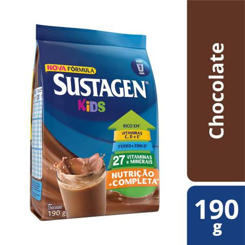 Imagem de Kit c/ 6 Sustagen Kids Chocolate 190g