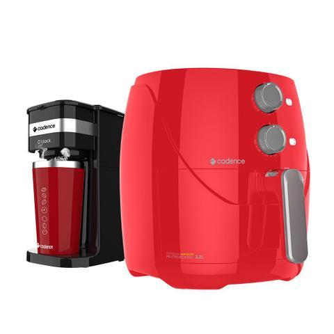 Imagem de Kit Cadence Colors Vermelho - Fritadeira e Cafeteira O'Clock
